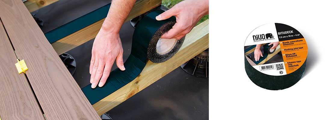 Bande Bitumeuse pour lambourde bois BITUDECK